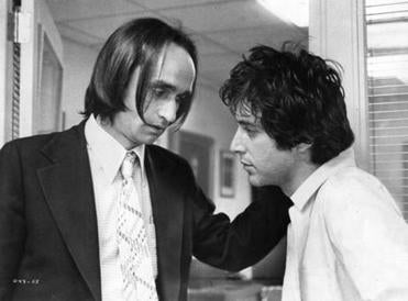 "John Cazale (left) and Al Pacino in ""Dog Day Afternoon."""
